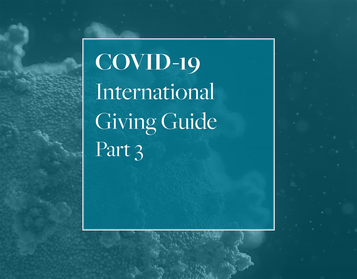 COVID-19 International Giving Guide Part 3