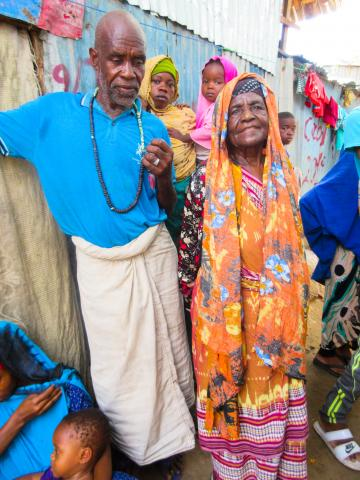 Mother and Son at Site for Displaced Persons in Somalia