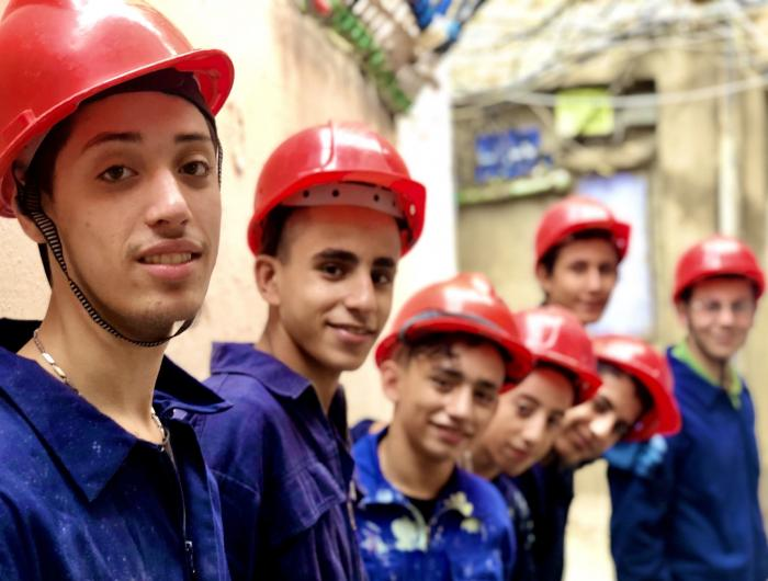 Anera's construction and electrical course grads in Lebanon