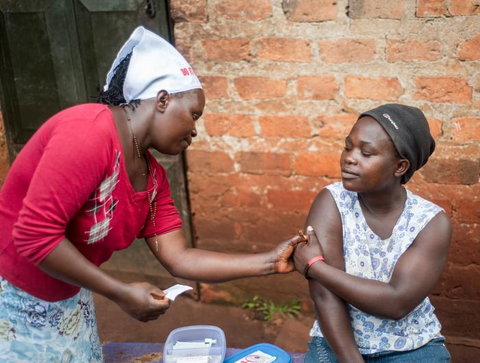 Training on self-injectable contraceptives in Uganda.