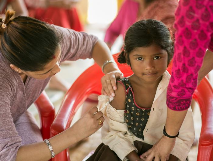 PATH supported immunization campaign in Nepal