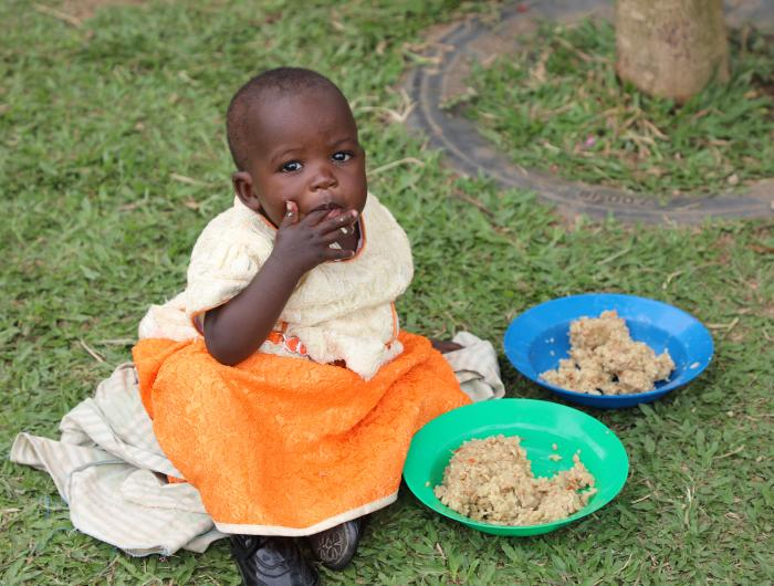 Little Girl Enjoying FMSC MannaPack Rice