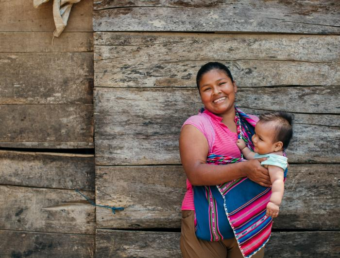 Mother and child in Bolivia