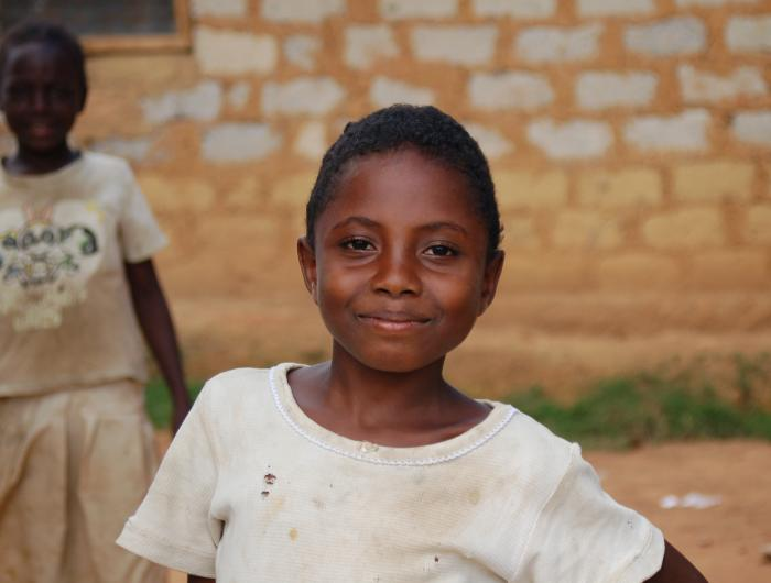 Girl Poses for the Camera in Liberia
