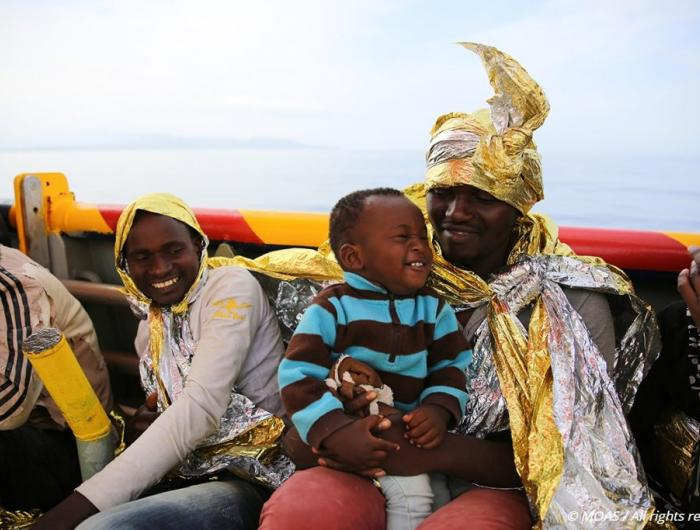 Family safe aboard MOAS SAR vessel