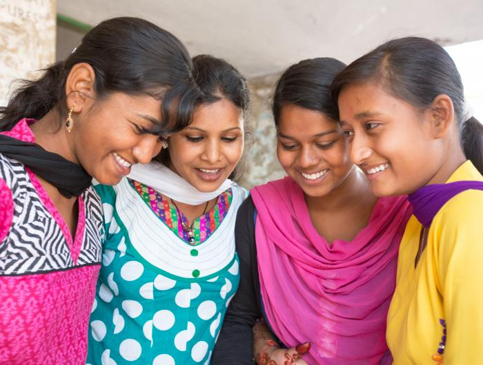 Young women in India