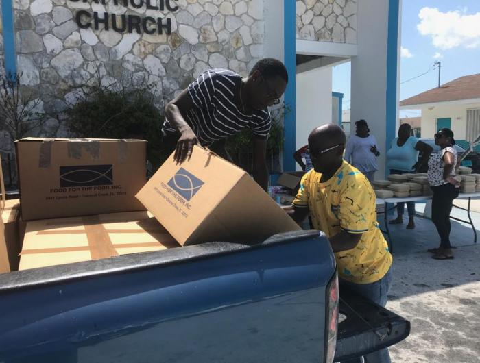 Relief Items Distributed in the Bahamas