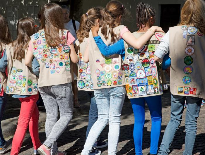 Girls Scouts in Paris