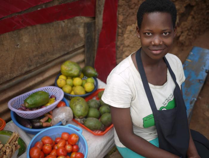 Woman at Market in Uganda